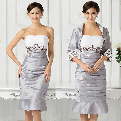 HOT Free jacket+Vintage mother of the bride/groom dress women formal outfit/suit