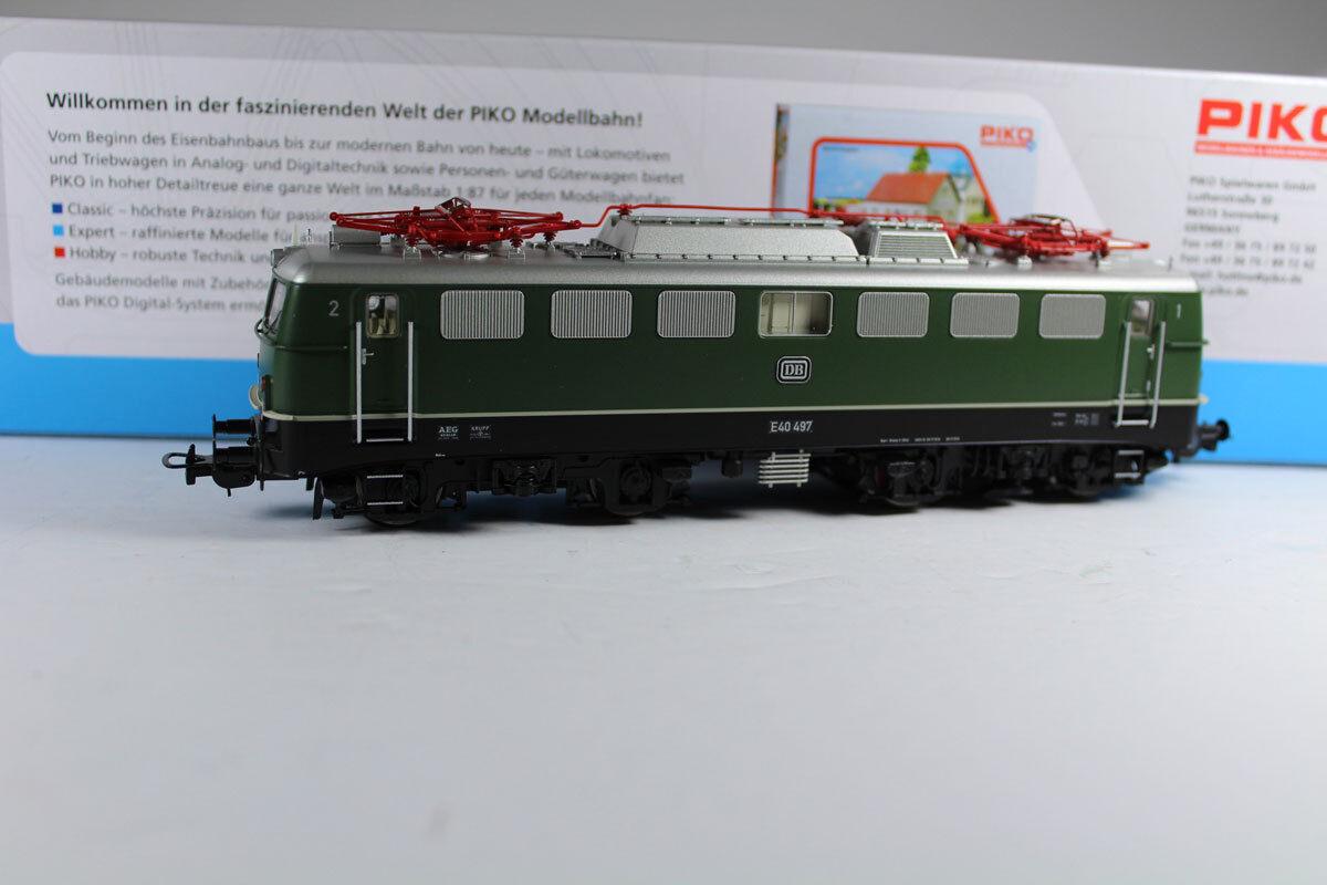 PIKO 51738 E-Lok BR e40 497 analogico DB epoca III, nuovi.