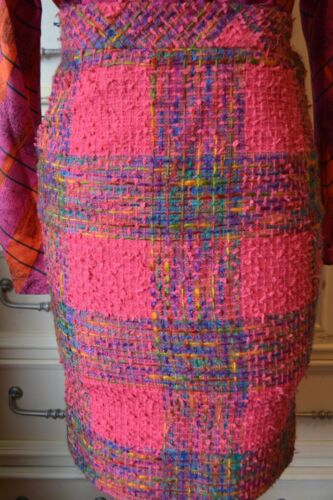 Vintage Valentino Pink Tweed Skirt