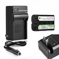 Np-fm500h Battery + Charger For Sony Alpha Dslr-a100 A700 Slt-a57 A58 A65v A77