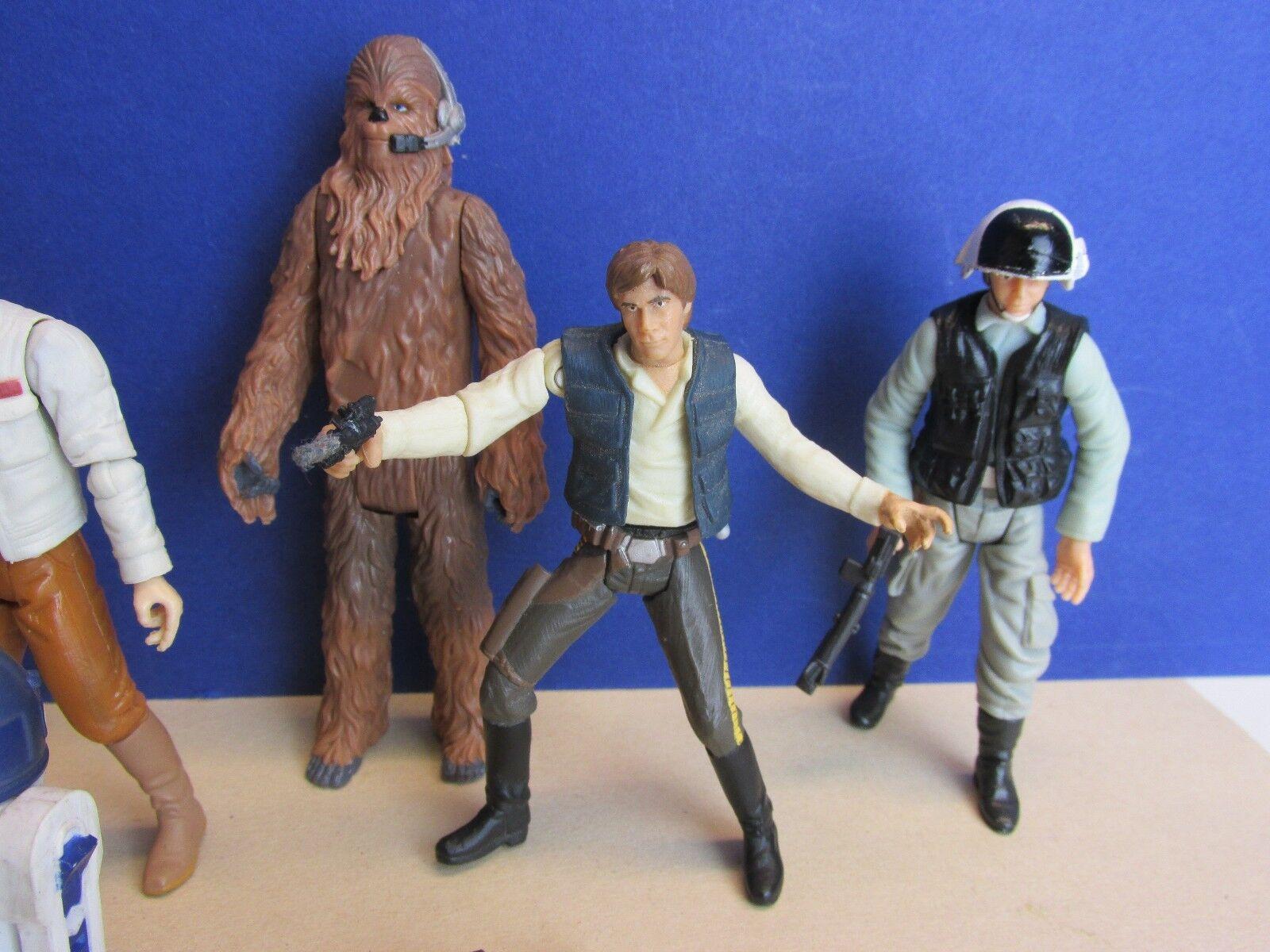 STAR Wars rossoj rossoj rossoj action figure Darth Vader Luke Han Chewie Trooper r2 d2 Set F45 2c7861