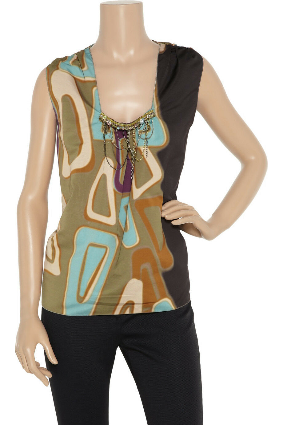 AUTH NWT M Missoni Embellished faille top Sz 42 US 8