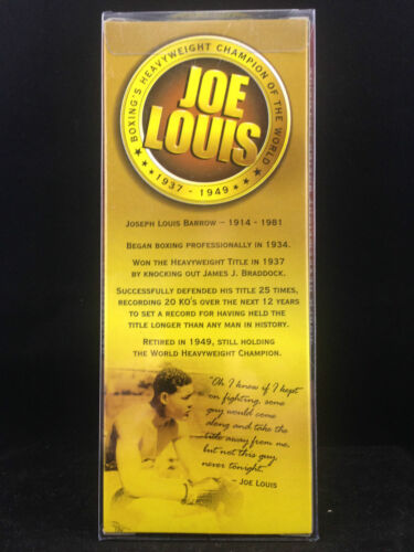 BOSLEY BOBBERS JOE LOUIS HEAVY WEIGHT CHAMPION BOBBLE HEAD BRAND NEW W FREE CASE