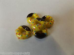 5-X-Pequeno-Pequeno-Amarillo-Donuts-pasteles-Miniatura-Casa-De-Munecas-Escala-de-alimentos-vendedor