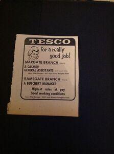 H2-1-Ephemera-1969-Tesco-Advert-Margate-Branch-Cashier-Assistant