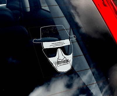 0d8a5f572 Heisenberg - Car Window Sticker - Walter White Face Breaking Bad Decal Sign  -V06   eBay