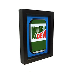 Details About Mountain Dew Soda Can 3d Pop Art Pepsi Product Kitchen Wall Decor Artwork Print