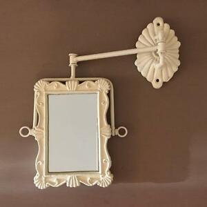 Image Is Loading French Shabby Chic Swivel Wall Mirror Swing Arm