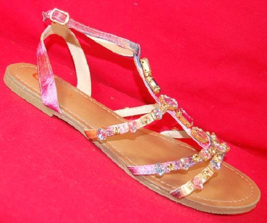 Women's CANDIES Sandals/Shoes MILOS Multi-Color Rhinestone Comfort/Dress Sandals/Shoes CANDIES NEW bf0d99