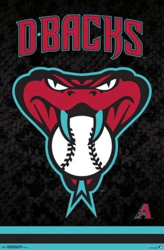 SNAKE HEAD LOGO POSTER ARIZONA DIAMONDBACKS BASEBALL 16508 D-BACKS 22x34