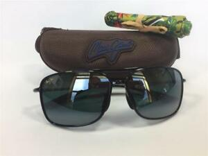 c7843608888 New Maui Jim Kaupo Gap Polarized Sunglasses Black/Neutral Gray 437 ...