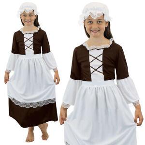 99db1fafdd6de POOR TUDOR GIRLS COSTUME MAID SCHOOL KIDS HISTORICAL TUDOR VICTORIAN ...