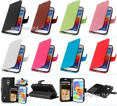 3K) Luxury Magnetic Flip Book Style PU Leather Case Silicone Cover For Lot Phone