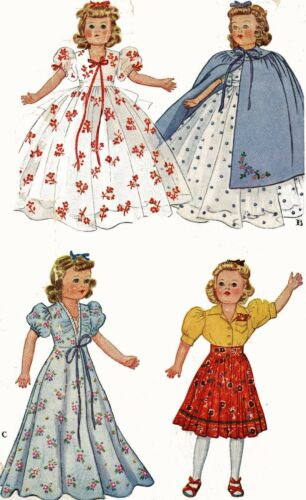 Vintage Doll Clothes PATTERN 918 for 22 in F /& B Little Lady doll by Effanbee