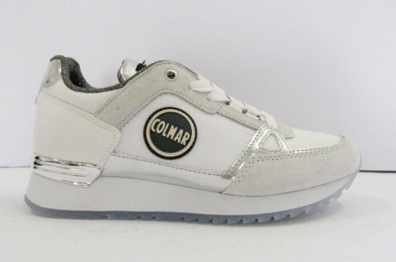 COLMAR supreme Coloreeeees 110 scarpe da ginnastica donna bianca sottopiede memory
