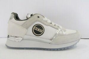 Dettagli su COLMAR supreme colors 110 sneakers donna white sottopiede memory