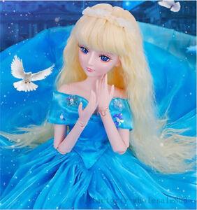 1/3 Le grand modèle de poupée Bjd / sd renaît les jouets articulés de filles reconstituent la princesse tournée