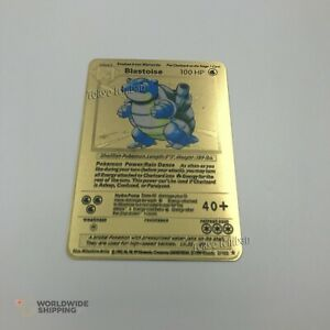 Carte-Pokemon-Gold-Tortank-Blastoise-Metal-Card-Fan-Made-EX-GX