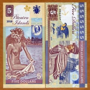 Pitcairn-Islands-5-private-issue-2018-Bounty-Polynesian-Nude