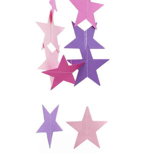 Star Party Felt Bunting Banner Flag Decor Birthday Party Hanging Ornament CB