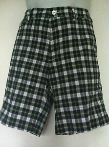 79818d6ae Polo Ralph Lauren BLUE GREEN WHITE PLAID FLAT FRONT PROSPECT SHORTS NWT  Herrenmode