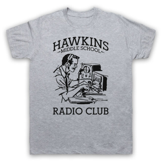 STRANGER THINGS INSPIRED HAWKINS SCHOOL RADIO CLUB UNOFFICIAL T-SHIRT ALL SIZES