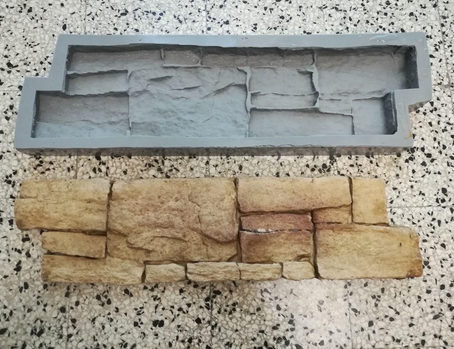 Molde PIEDRA en tiza CEMENTO Stone CHAPA DE MADERA para el concreto Yeso Wall