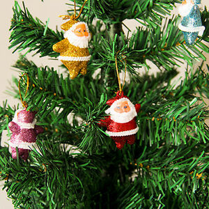 6pcs-Mini-Pere-Noel-Ornement-Suspendu-Pour-Arbre-Sapin-de-Noel-Fete-Decoration