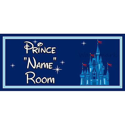 Personalised Disney Prince Kids Bedroom Door Sign Disney Castle DB