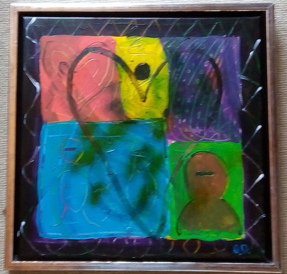 Akrylmaleri, Ole Dalsgaard, motiv: Abstrakt