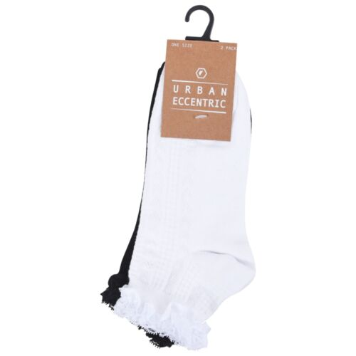 **4 PAIRS** EX CHAINSTORE LADIES FRILL TOP CABLE KNIT SOCKS UK 4-7 • EU 37-41