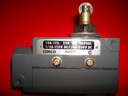 125//250//480VAC CEMCO AZ6140 Enclosed Micro Limit Switch ZEQ22 15A 1NO//1NC NEW