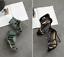Women-Fashion-Stiletto-Suede-Rhinestone-Ankle-Strap-High-Heels-Sandals-Boots thumbnail 6