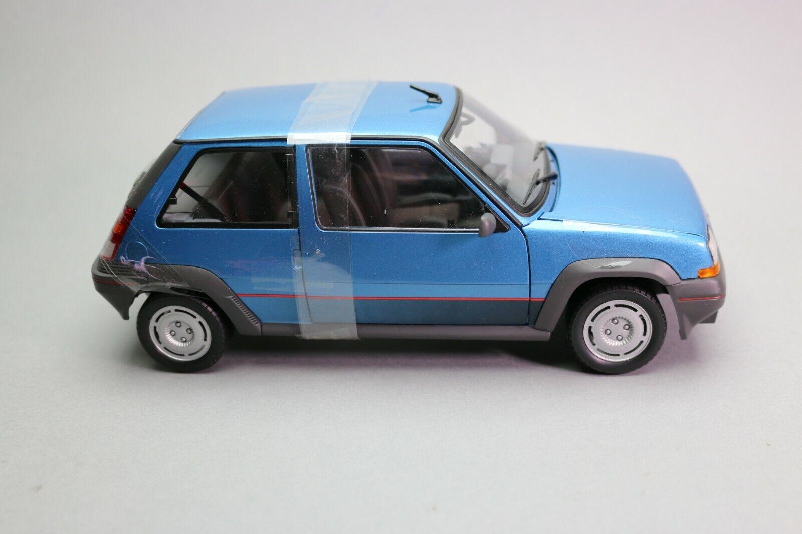 ZD096 NOREV 185207 Voiture 1 18 Renault Super cinq GT Turbo blue métal Edl