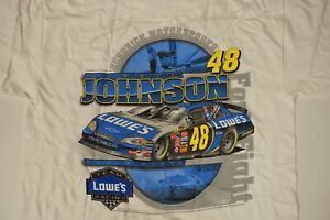 Jimmie Johnson #48 Lowe's NASCAR Racing T-shirt - Sizes Available: Large & XL
