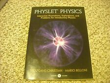 Physlet Physics includes CD Christian & Belloni