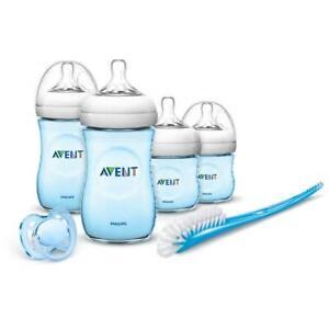 Philips-Avent-Natural-Bebe-Recien-Nacido-Kit-de-arranque-botellas-Cepillo-Tetilla-ficticio-Azul