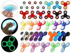 Turbo-Spinner-Finger-Pocket-Tri-bar-Kreisel-Anti-Stress-ADHS-Fidget-Metallic-LED