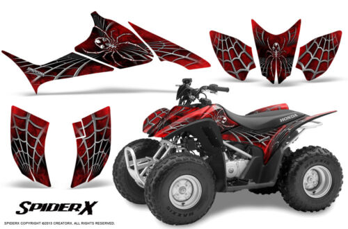 HONDA TRX 90 GRAPHICS KIT CREATORX DECALS STICKERS SPIDERX RED