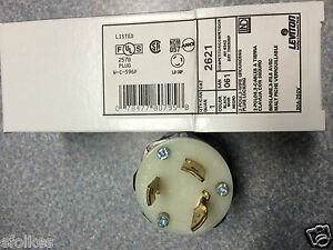leviton 2621 nema l6 30p 30amp 250volt 2 pole 3 wire grounging locking