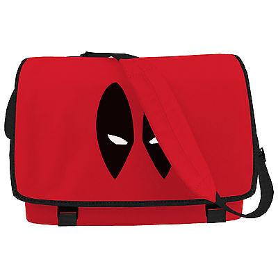 Frugale Cartoon Occhi Rosso Messenger Bag Ispirato Fumetti Occhi Viso Spalla Laptop College- Lustro