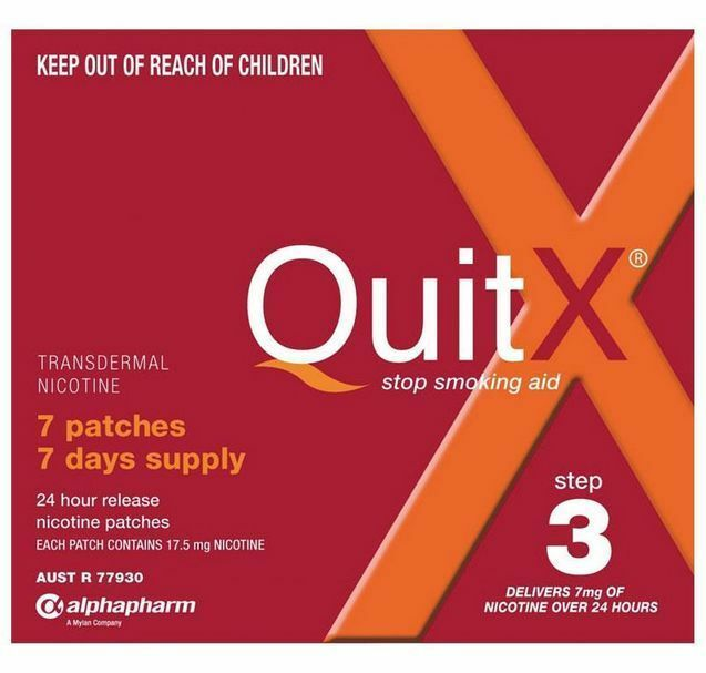 HOT DEAL! >> QUITX NICOTINE PATCH 7MG x 7 patches QUIT X SMOKING Aid STEP 3