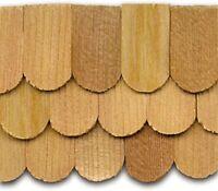 Dollhouse Roofing Hand Split Cedar Fishscale Shingles 140 Pcs 1 Scale Cla70253