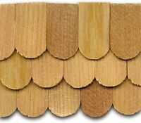 Dollhouse Roofing Hand Split Cedar Fishscale Shingles 300 Pcs 1 Scale Cla70257