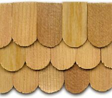 "Dollhouse Roofing Hand Split Cedar Fishscale Shingles 140 Pcs 1"" Scale #CLA70253"