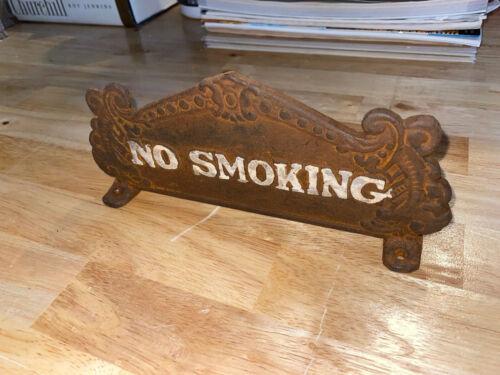 No Smoking Cash Register Solid Metal Plaque Sign Heavy Duty Patina Sinclair Ex
