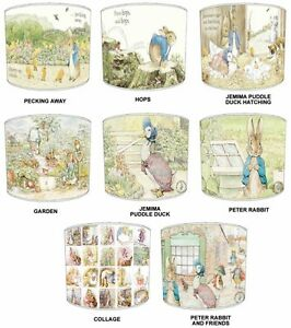 Image Is Loading Childrens Beatrix Potter Lampshades Ideal To Match
