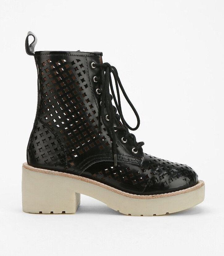 NIB Jeffrey Campbell 8th St Cutout Platform Lace up Ankle Leder Boot Sz 8.5 9 Leder Ankle 1b10f8