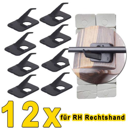 12x RH Pfeilauflage Cartel rest selbstklebend rechtshand Recurvebogen schwarz DE