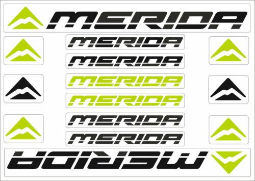 Merida Bicycle Frame Decals Stickers Graphic Adhesive Set Vinyl Black Green #3